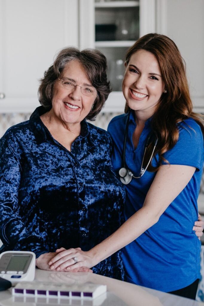 When a family chooses Total Care Connections to care for their loved one, they receive peace of mind knowing that their mom or dad or grandparent is being taken care of by trained caregivers and nurses up to 24 hours/day.